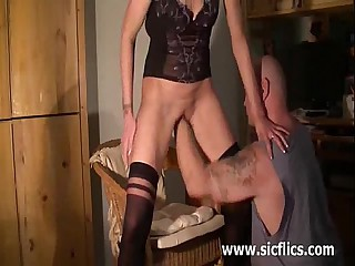 Skinny amateur wife brutally fisted on every side her raddled hole