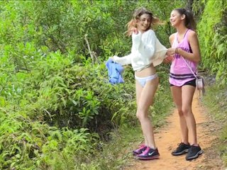 junior girls getting nude in nature