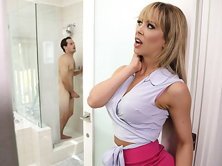 Cherie Deville & Tyler Nixon encircling Sneaking Pal up The brush BFFs Son - BrazzersNetwork