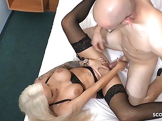 White Monster Weasel words Fucks German Latex Teen in Hotel at Date