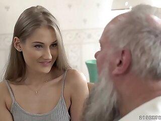Teen beauty vs old grandpa - Tiffany Tatum and Albert